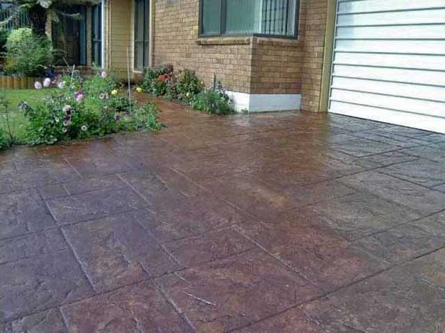 Concrete resurfacing and refinishing for Acid wash concrete driveway